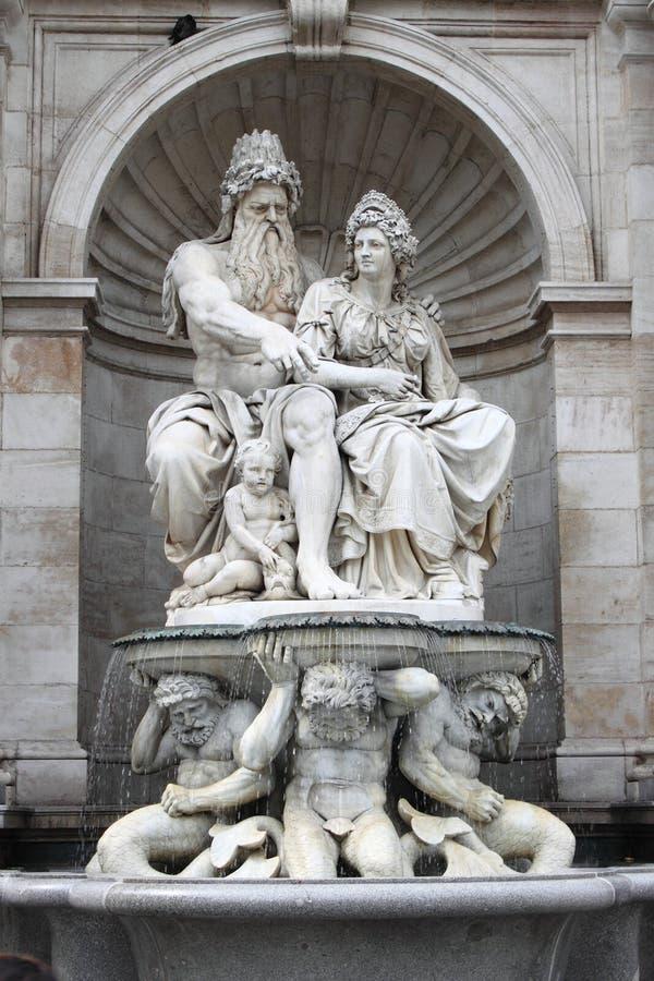 franz ja Josef statua fotografia stock