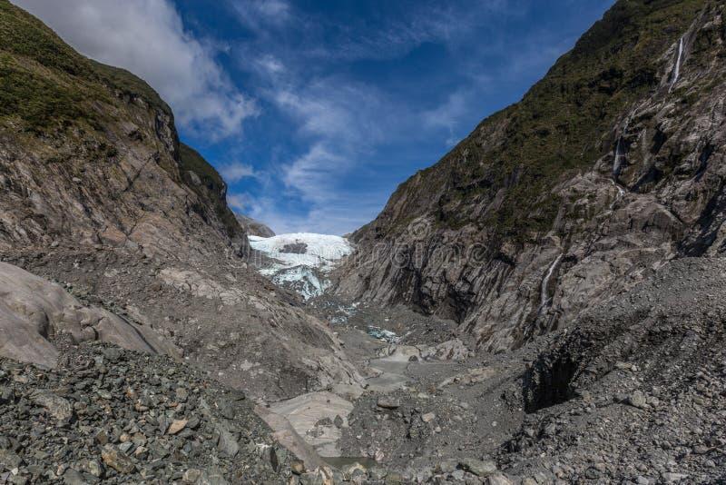 Franz josef glaciär royaltyfri fotografi