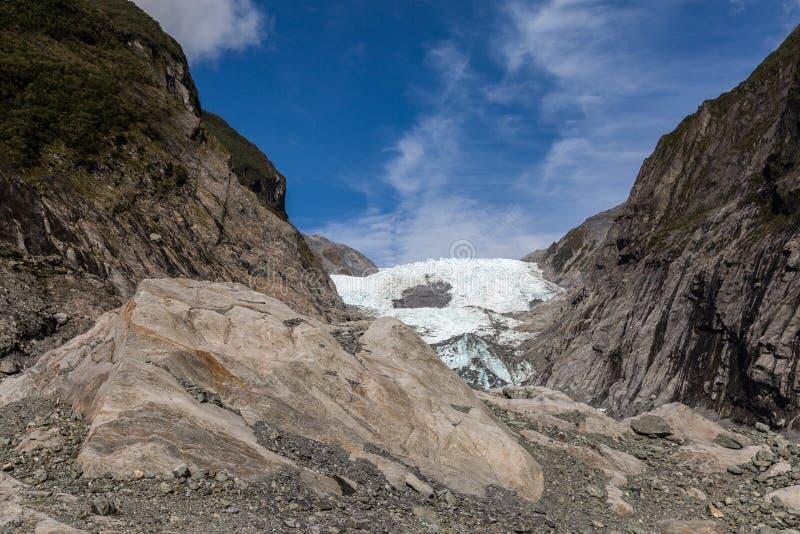 Franz josef glaciär fotografering för bildbyråer