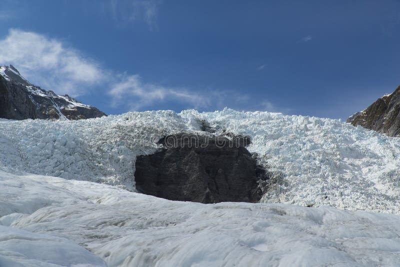 Franz josef glaciär New Zealand arkivbild