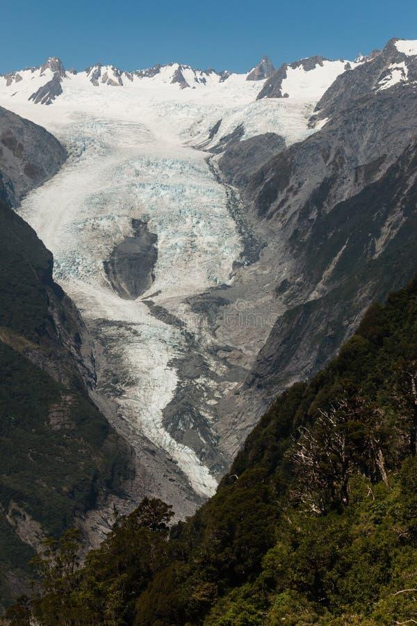 Franz Josef Glacier i den Westland nationalparken fotografering för bildbyråer