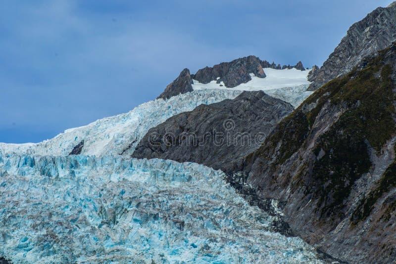 Franz Josef Glacier landscape view, New Zealand royalty free stock image