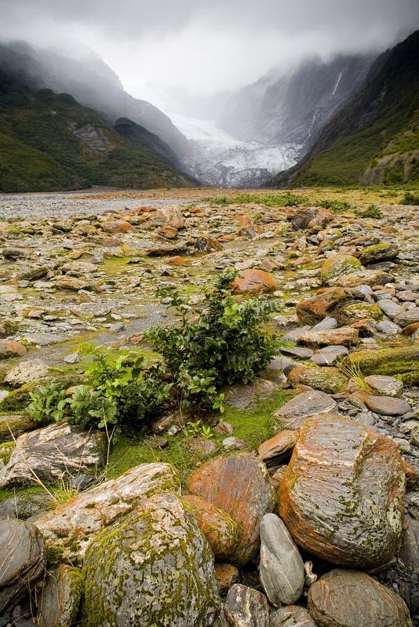 Franz Josef Glacier, New Zealand. The beautiful Franz Josef Glacier, New Zealand royalty free stock photos