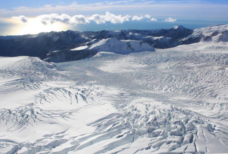 Franz Josef glacier, New Zealand stock image