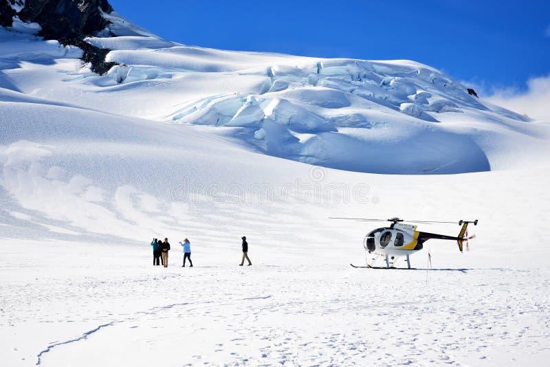 Franz Josef Glacier-Schneelandung stockfotos
