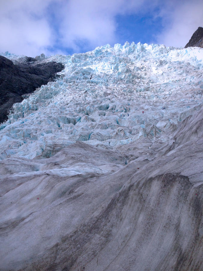 Franz Josef Glacier sydlig ö, Nya Zeeland royaltyfria foton