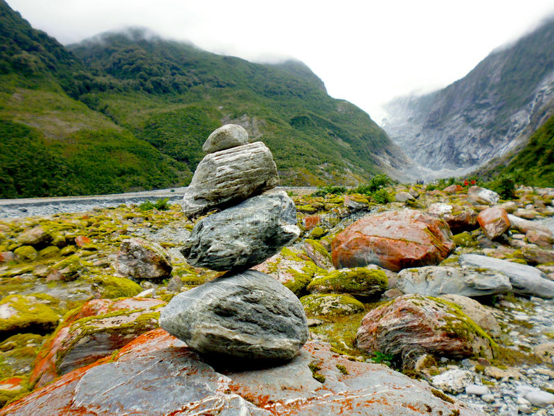 Franz Josef Glacier Valley, Nieuw Zeeland royalty-vrije stock foto's
