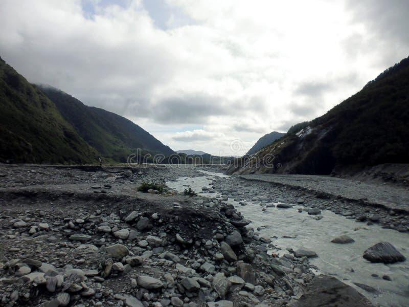 Franz Josef Glacier Valley South Island Nya Zeeland arkivfoto