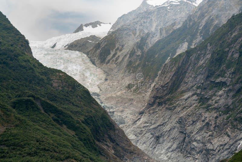 Franz Josef lodowiec, Nowa Zelandia Południowa wyspa zdjęcie stock