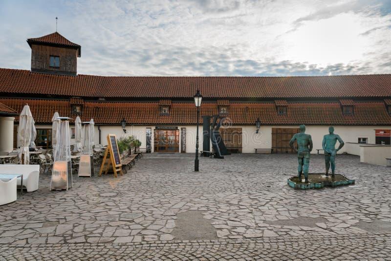 Franz Kafka Museum ingång royaltyfri bild