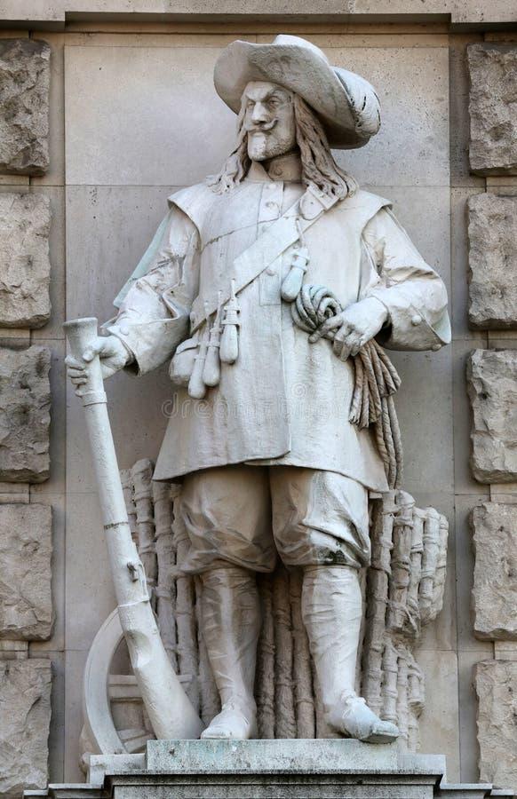 Franz Koch: Żołnierz Wallenstein obraz royalty free