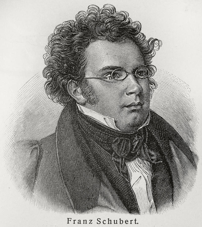 Franz Schubert. Franz Peter Schubert (1797 - 1828) was an Austrian composer. Although he died at an early age, Schubert was tremendously prolific. He wrote some royalty free stock image