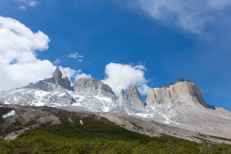 Franz?sische Tallandschaft, Torres Del Paine, Chile lizenzfreies stockfoto