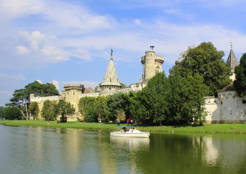 Franzensburg - όμορφο κάστρο στην Αυστρία στοκ φωτογραφία με δικαίωμα ελεύθερης χρήσης