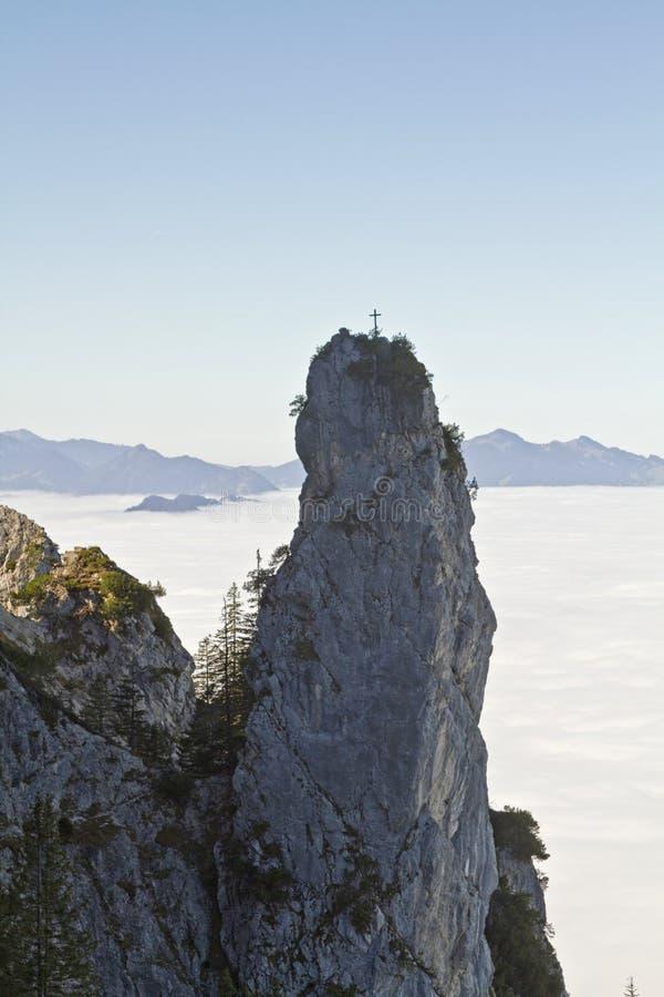 Franziskaner - Craggy rock needle stock photos