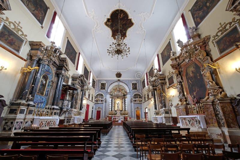 Franziskanerkirche der Mönche gering in Dubrovnik stockfotos