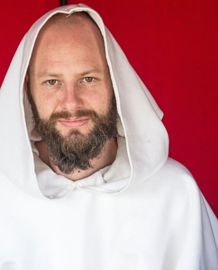 Franziskanermönch am Fort George lizenzfreie stockfotografie