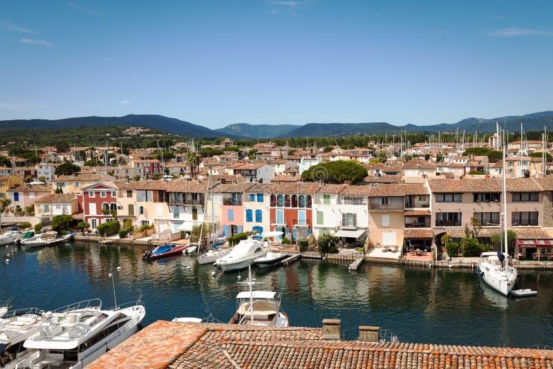 Franzosen Venedig - Hafen Grimaud stockbild