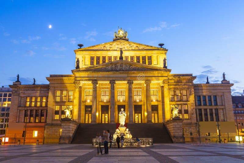 Franzosischer Dom, Gendarmenmarkt, Berlin, Germany. Das Konzerthaus (1821) theatre residing in the picturesque Gendarmenmarkt paved neoclassical square popular stock photography