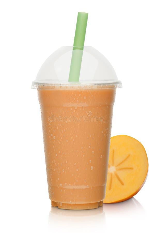 Frappè con frutta arancio fotografia stock libera da diritti