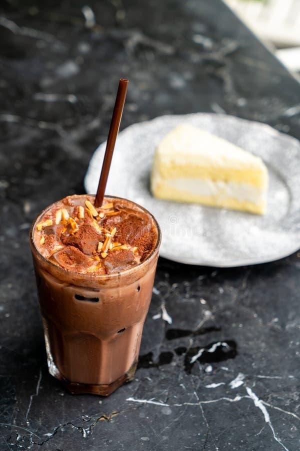 frappé ghiacciato del cioccolato immagini stock