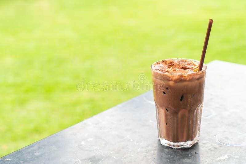 frappé ghiacciato del cioccolato fotografia stock libera da diritti