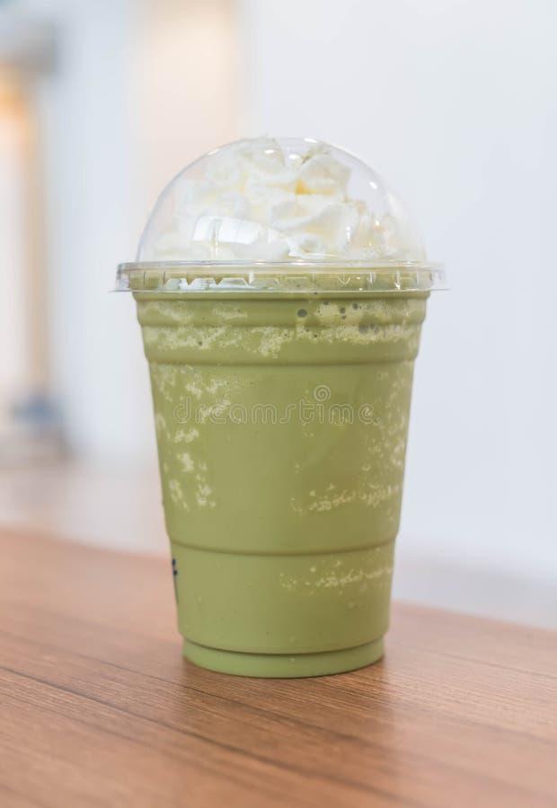 frappe del latte del té verde fotografía de archivo libre de regalías