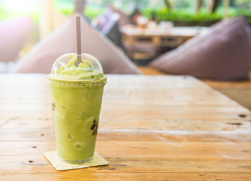 Frappe för grönt te och blandat royaltyfria foton