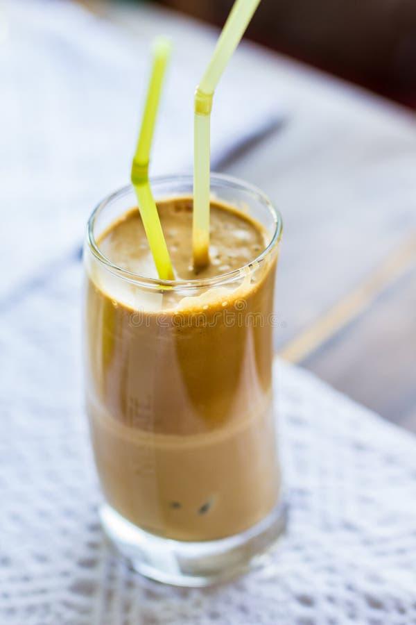 Frappe för iskaffe med mjölkar royaltyfri foto