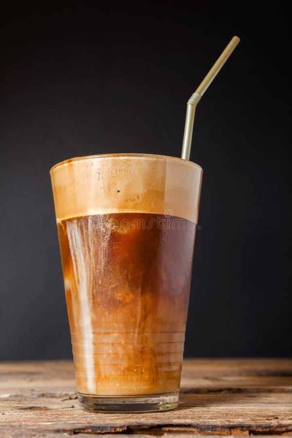 Frappe-Kaffee lizenzfreie stockbilder