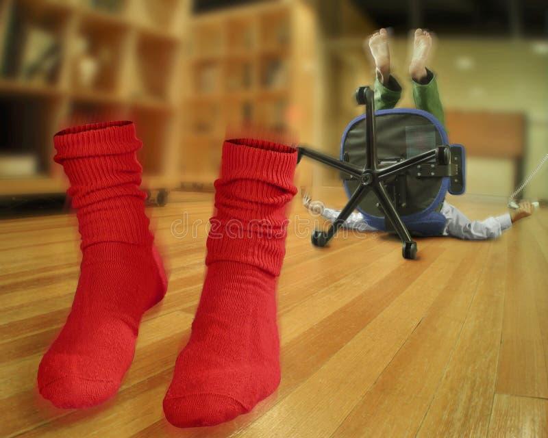 Frappez vos chaussettes hors fonction image libre de droits