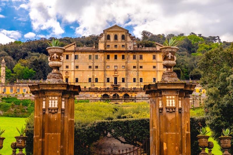 Frascati - Lazio - Italy historic landmark Aldobrandini palace near Rome.  royalty free stock photography