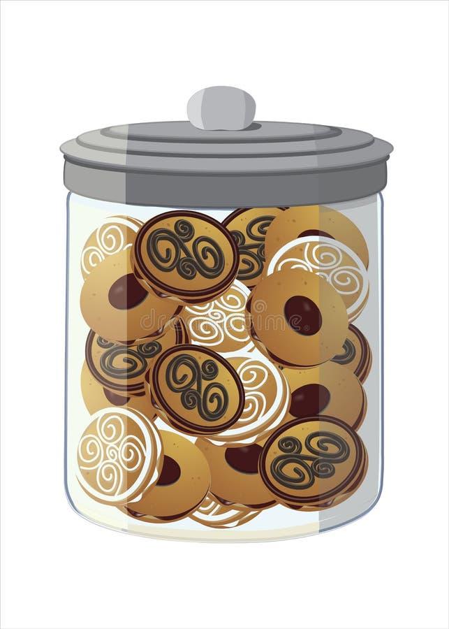 Frasco completamente das cookies imagem de stock