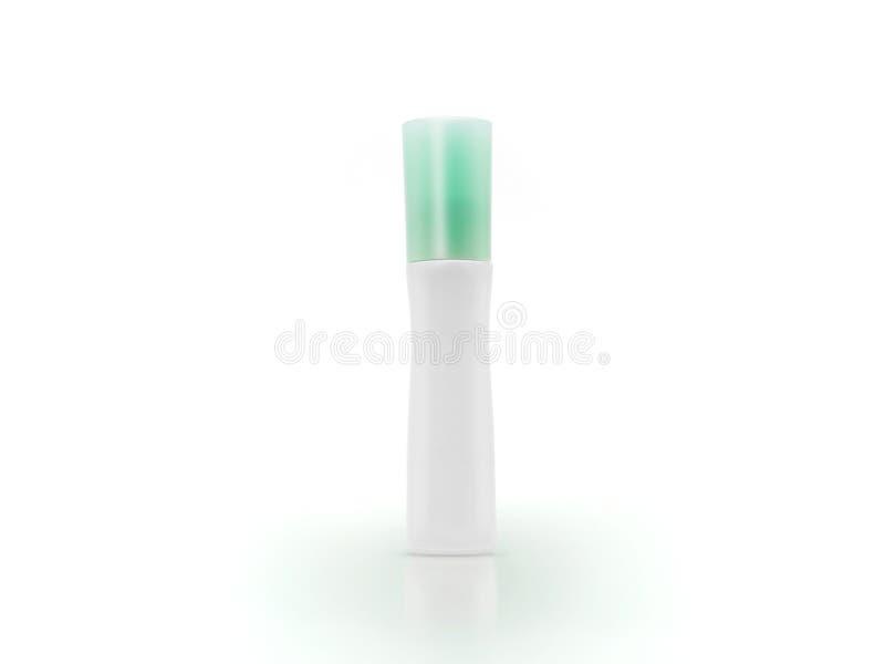 Frasco cosmético em branco imagem de stock royalty free