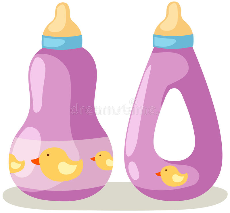 Frasco de bebê ilustração royalty free