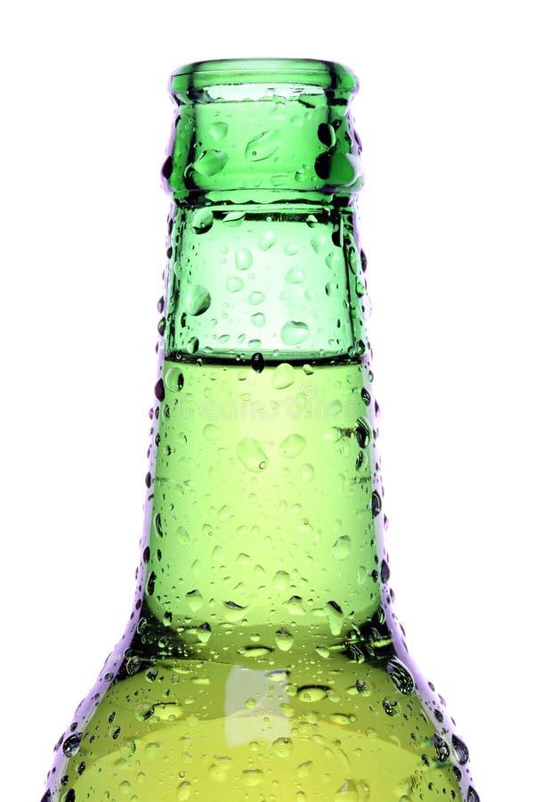Frasco de cerveja isolado fotografia de stock