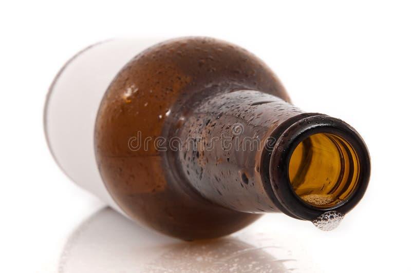 Frasco de cerveja vazio foto de stock