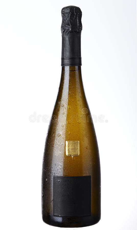 Frasco de Champagne fotografia de stock