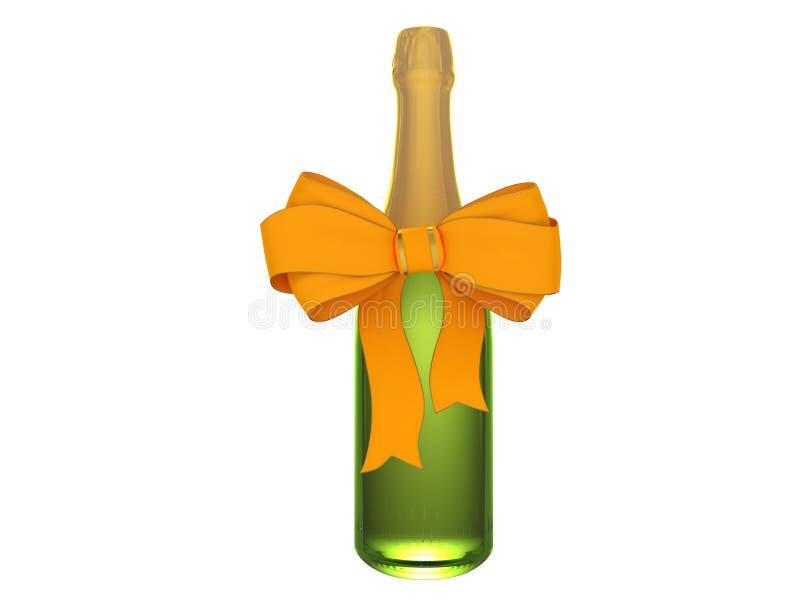 Frasco de Champagne com curva ilustração do vetor