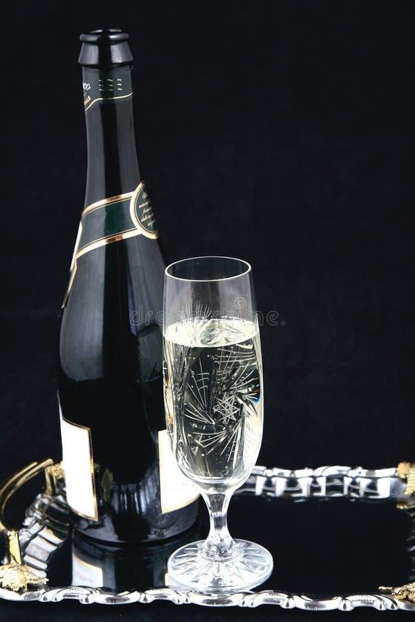 Frasco de Champagne e vidro VI fotos de stock royalty free