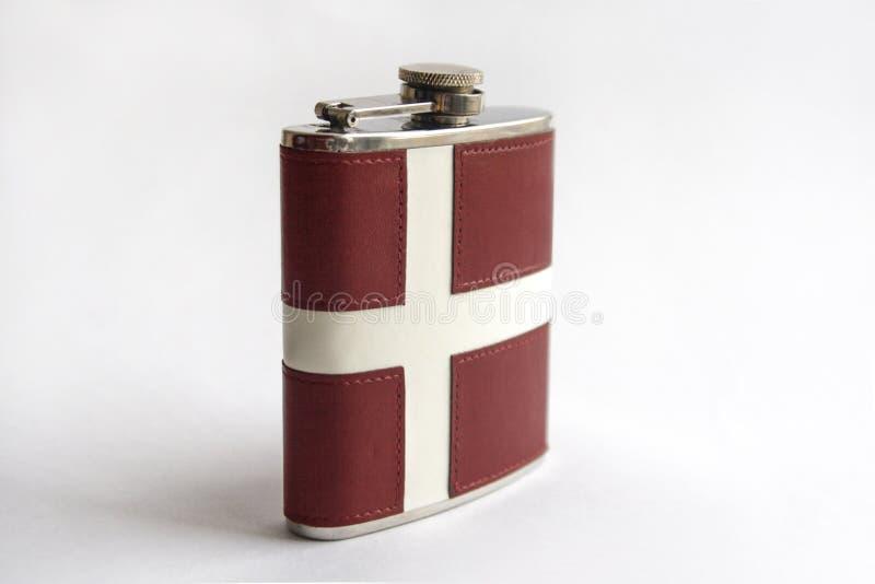Frasco de la bandera de Dinamarca imagen de archivo