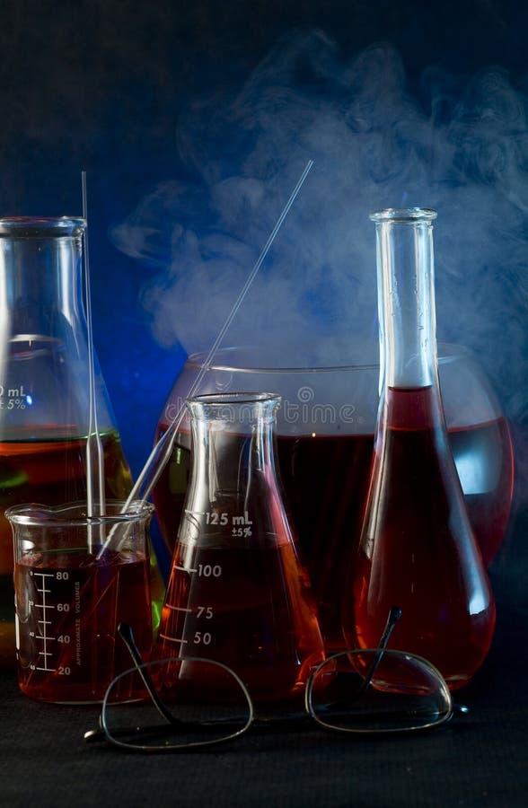 Frasco de la química imagen de archivo