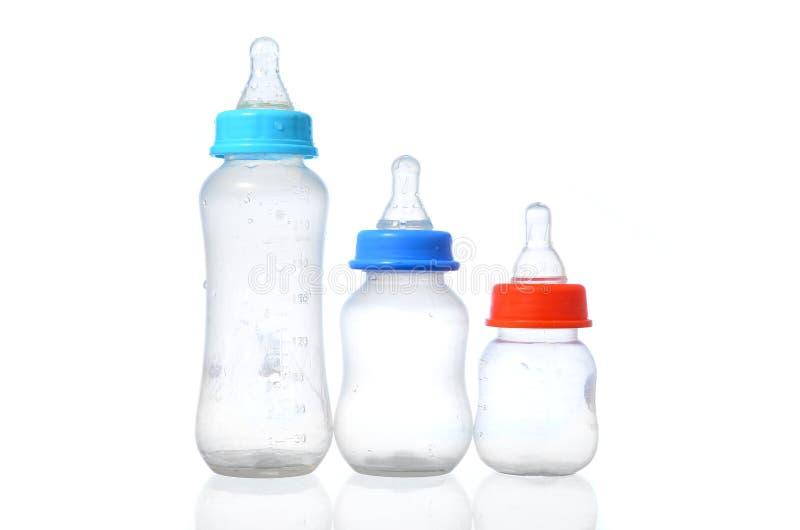 Frasco de leite do bebê imagem de stock royalty free