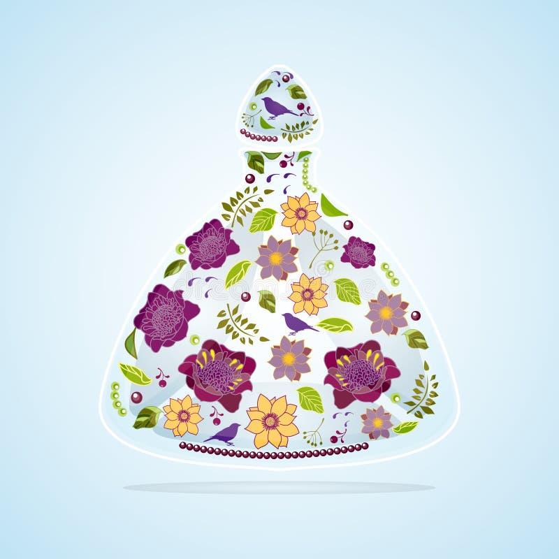 Frasco de perfume ilustração royalty free