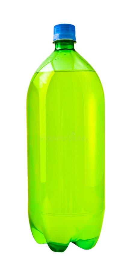 Frasco de soda verde fotografia de stock royalty free