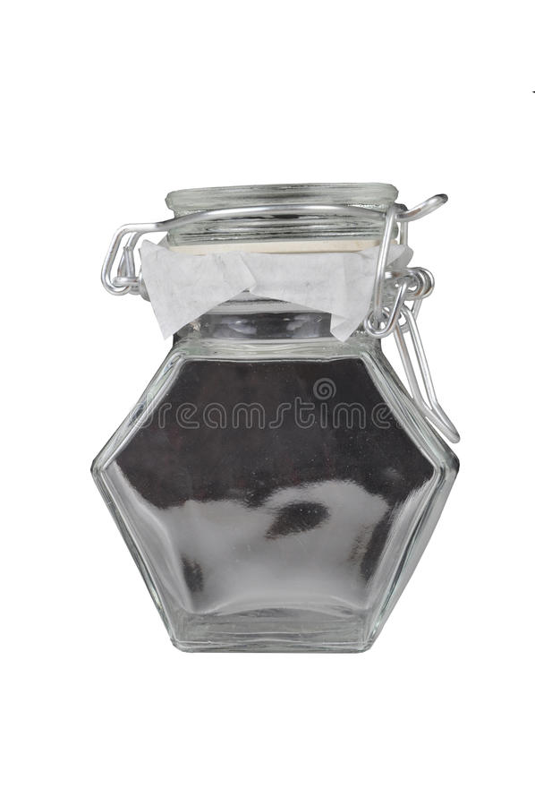 Download Frasco de vidro imagem de stock. Imagem de isolado, tampa - 16873033