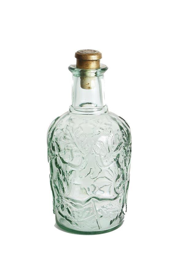Frasco de vidro de Decorarive com bujão imagem de stock
