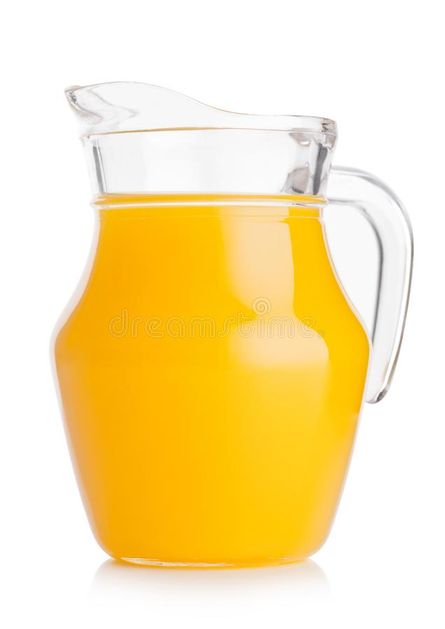 Frasco de vidro do suco de laranja fresco com frutos fotografia de stock