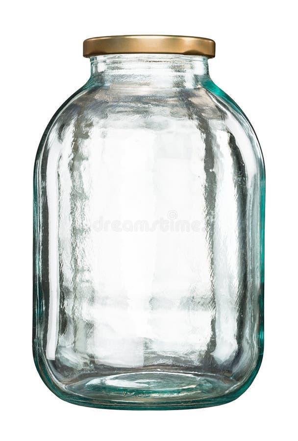 Frasco de vidro fechado com tampa imagens de stock royalty free