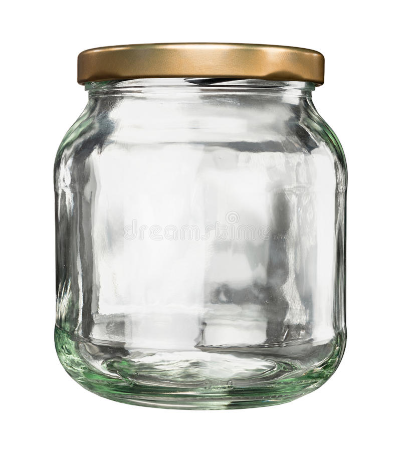 Frasco de vidro fechado com tampa fotografia de stock